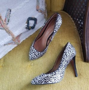 🆕️ Zara - Spotted Calf Hair High Heels